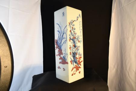 Square porcelain Vase