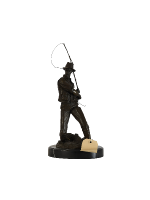 Bronze Fisherman Sculpture