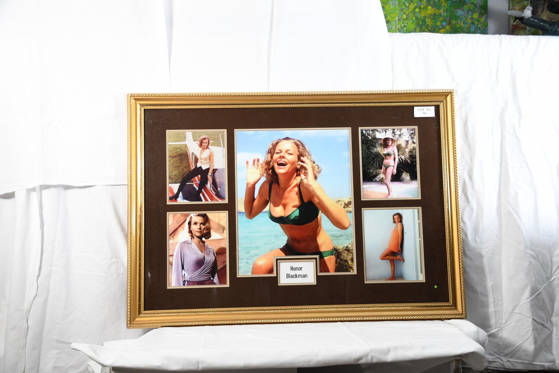 Framed Signed Honor Blackman Montage