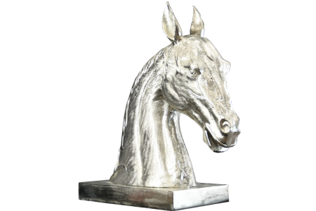 Large hand cast Metal Horse Head