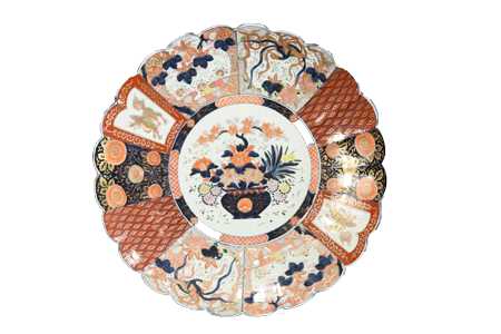 Large Imari Floral Charger Plate