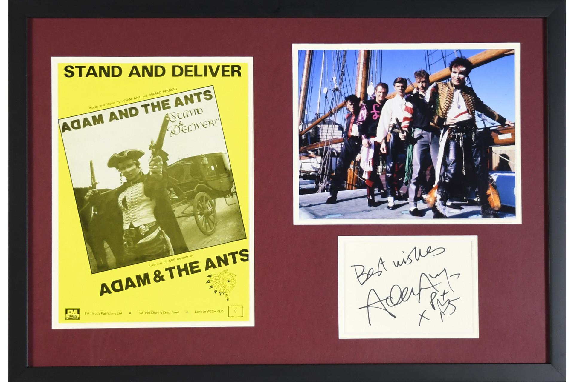 Adam Ant Framed Memorabilia