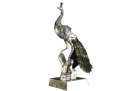 Large Metal Peacock Figure