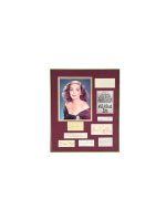 """Framed Memorabilia of """"All About Eve"""" stars"""
