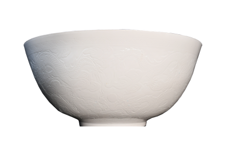 Extremely Fine  Porcelain Dragon Bowl