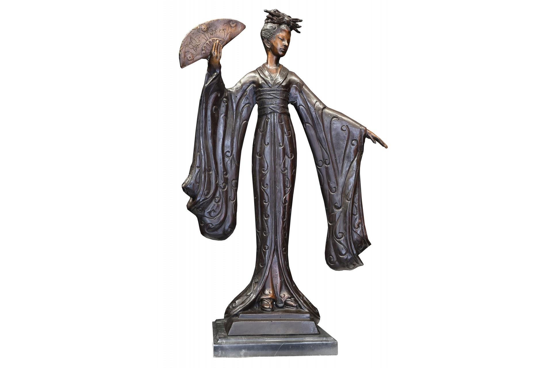 Bronze Geisha Lady