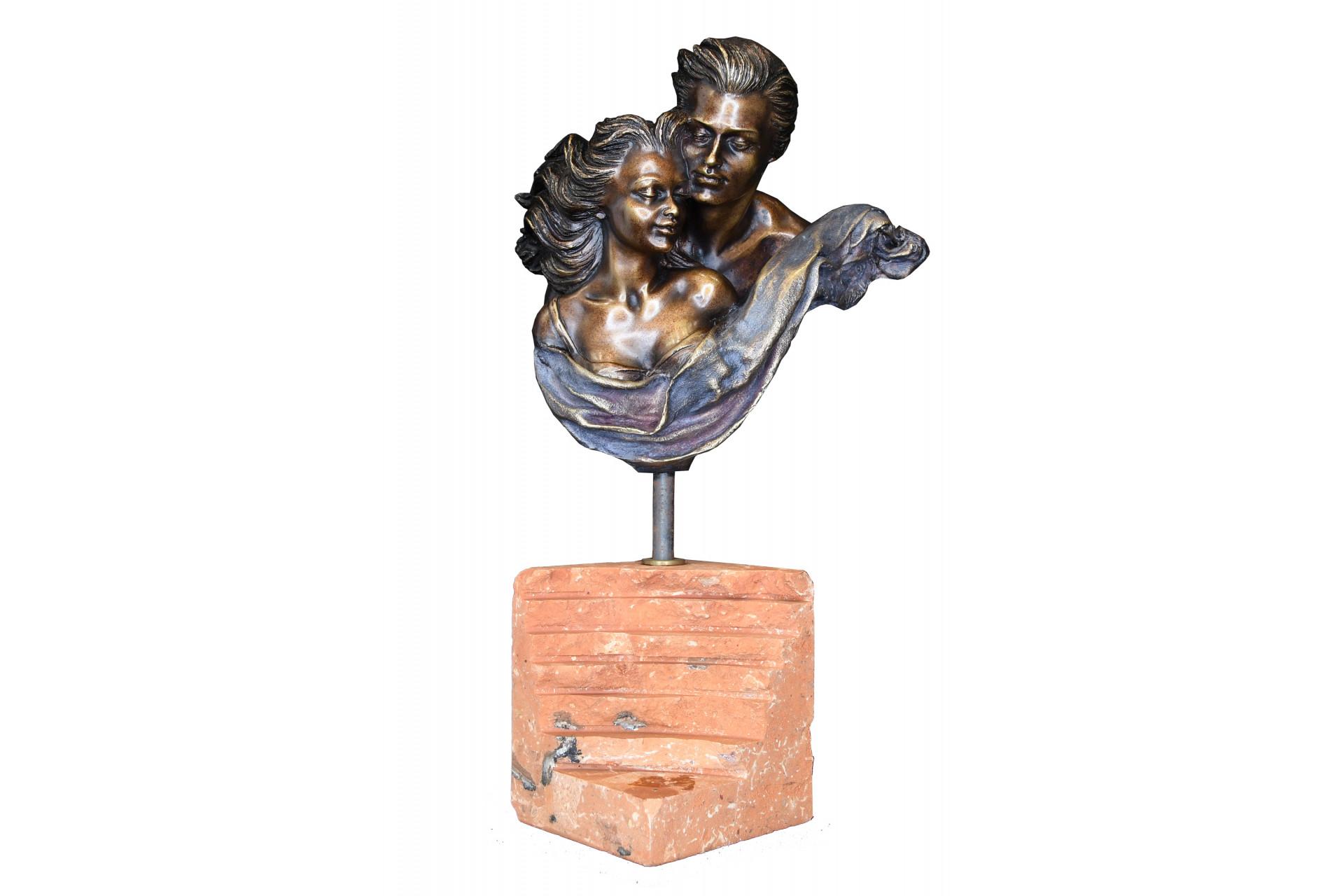Bronze Sculpture on Marble