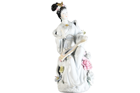 Very Fine Porcelain Geisha Lady