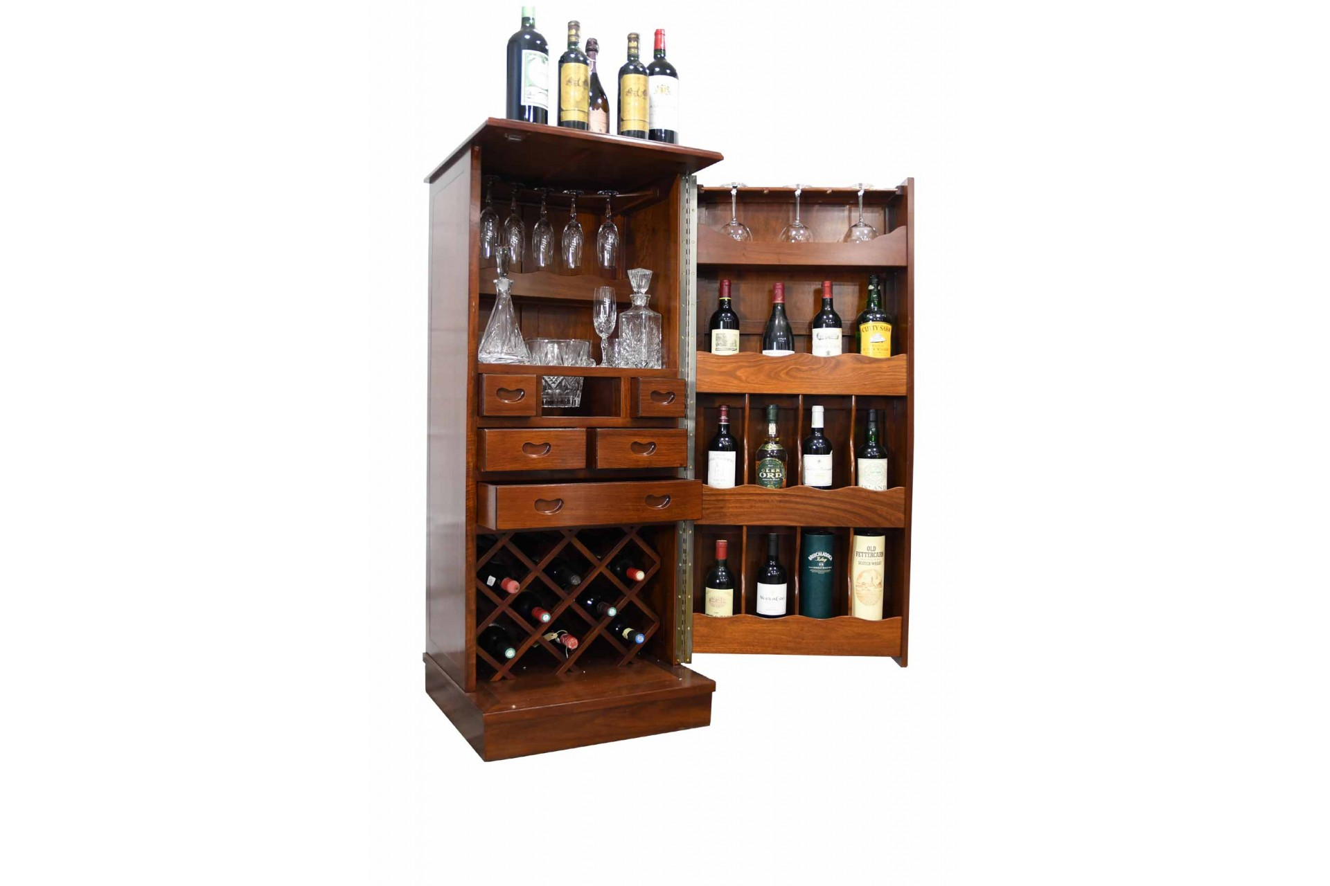 HAND MADE Solid Rosewood Cocktail Cabinet