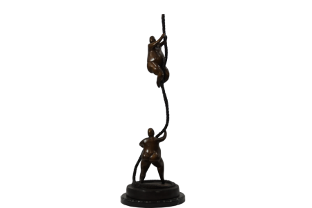 Bronze Climbers on Rope