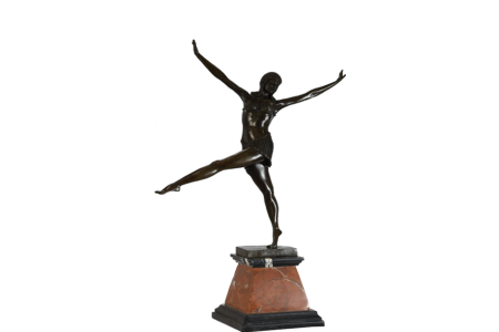 Bronze Dancer on Marble Base