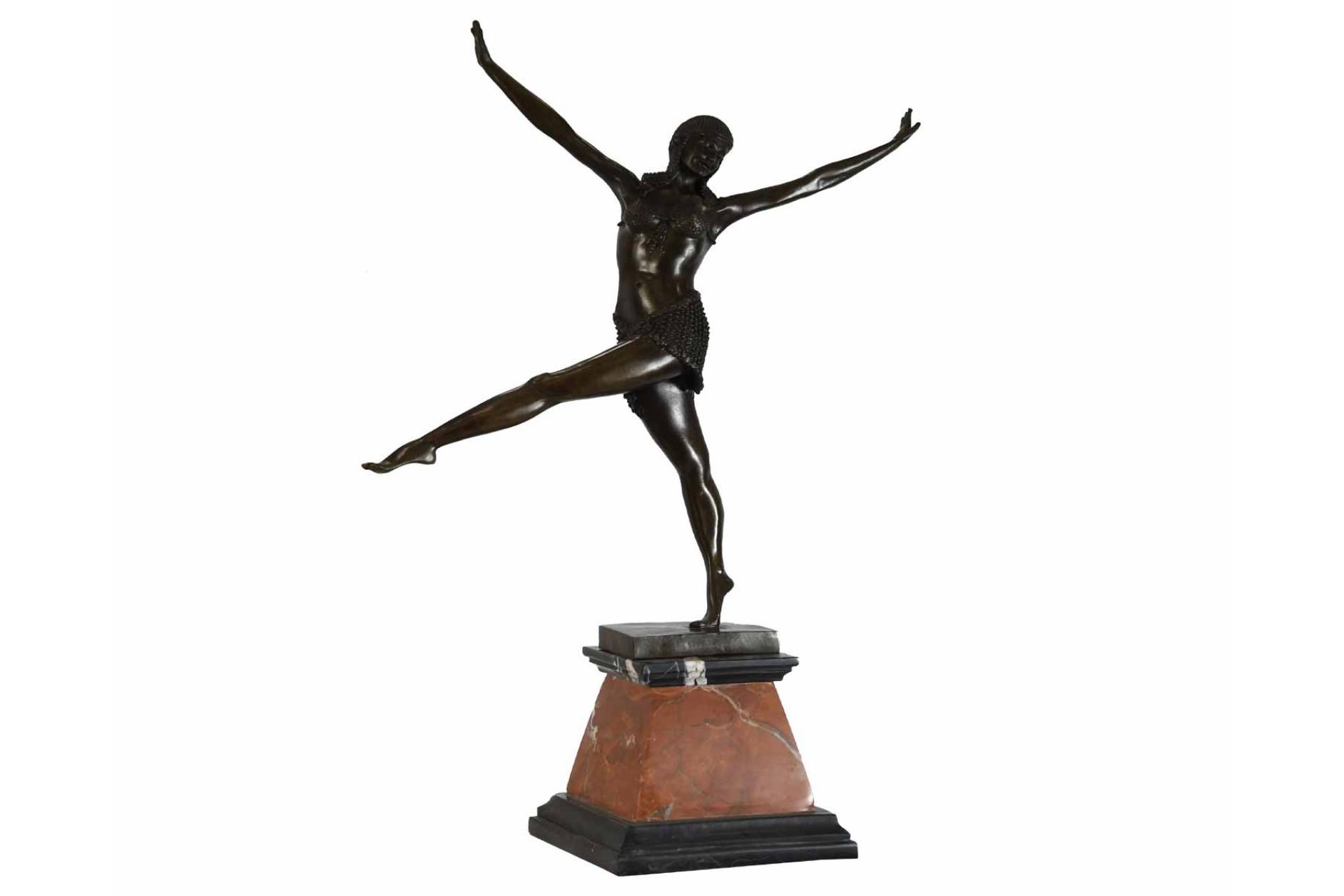 Bronze Dancer on Marble Base