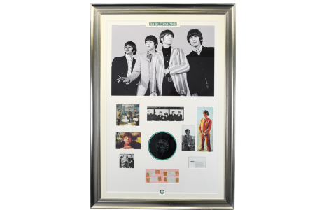 Original Beatles Framed Signatures