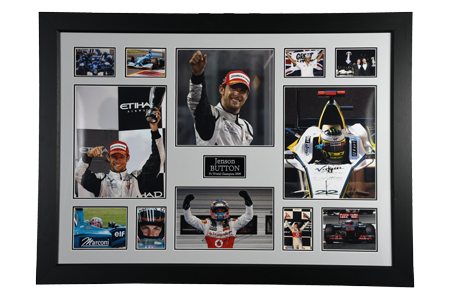 Jenson Button Framed Memorabilia