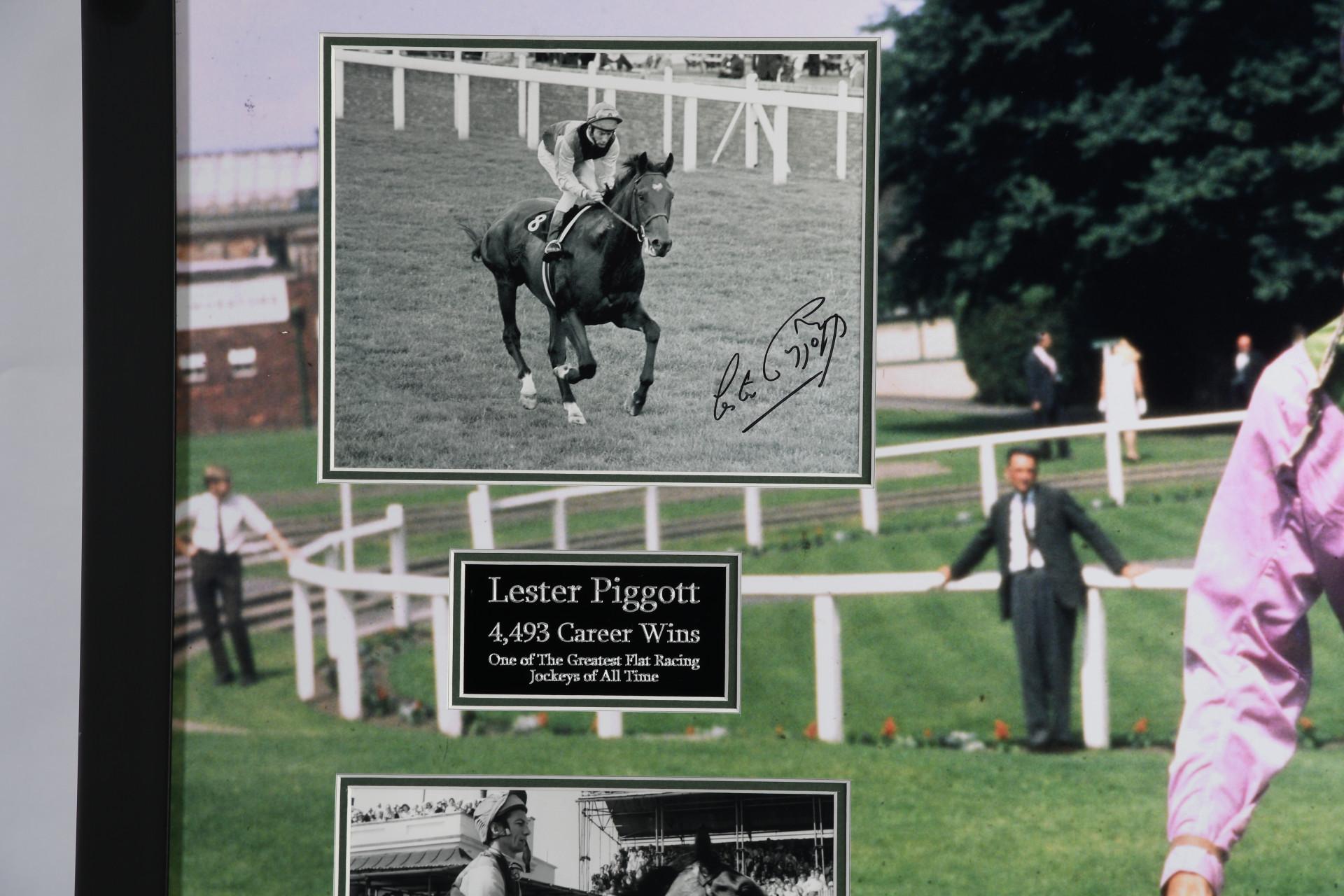 Lester Piggot Framed Memoribilia