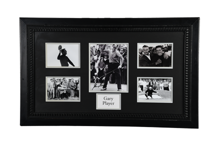 Gary Player SIGNED FRAMED PHOTOGRAPH