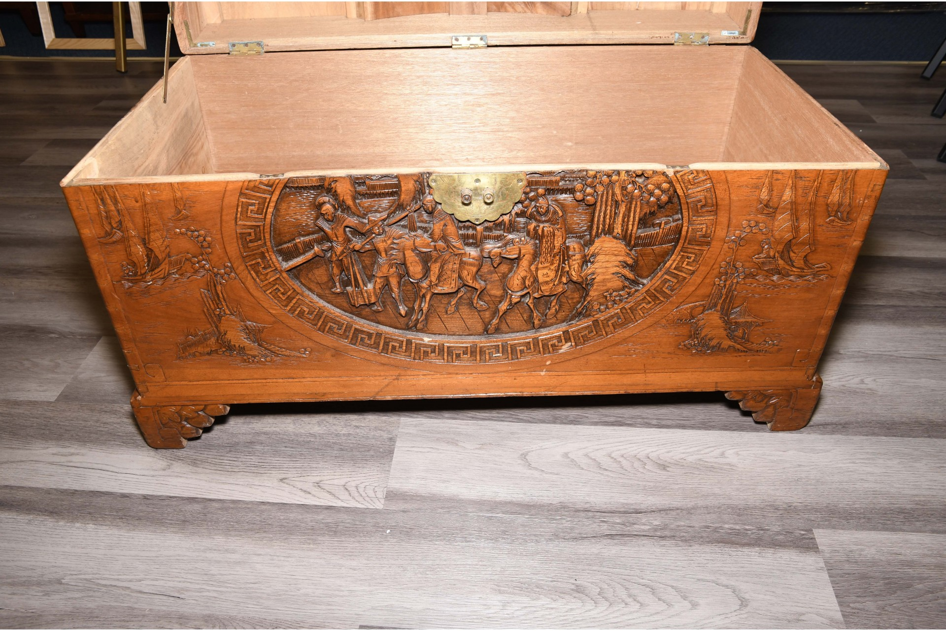 Oriental Hand Carved Chest