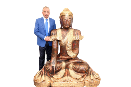 Thai Sitting Wooden buddha