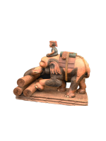 Wooden Elephant and Boy