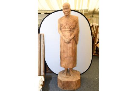 Life Size Hand Carved Teak Monk