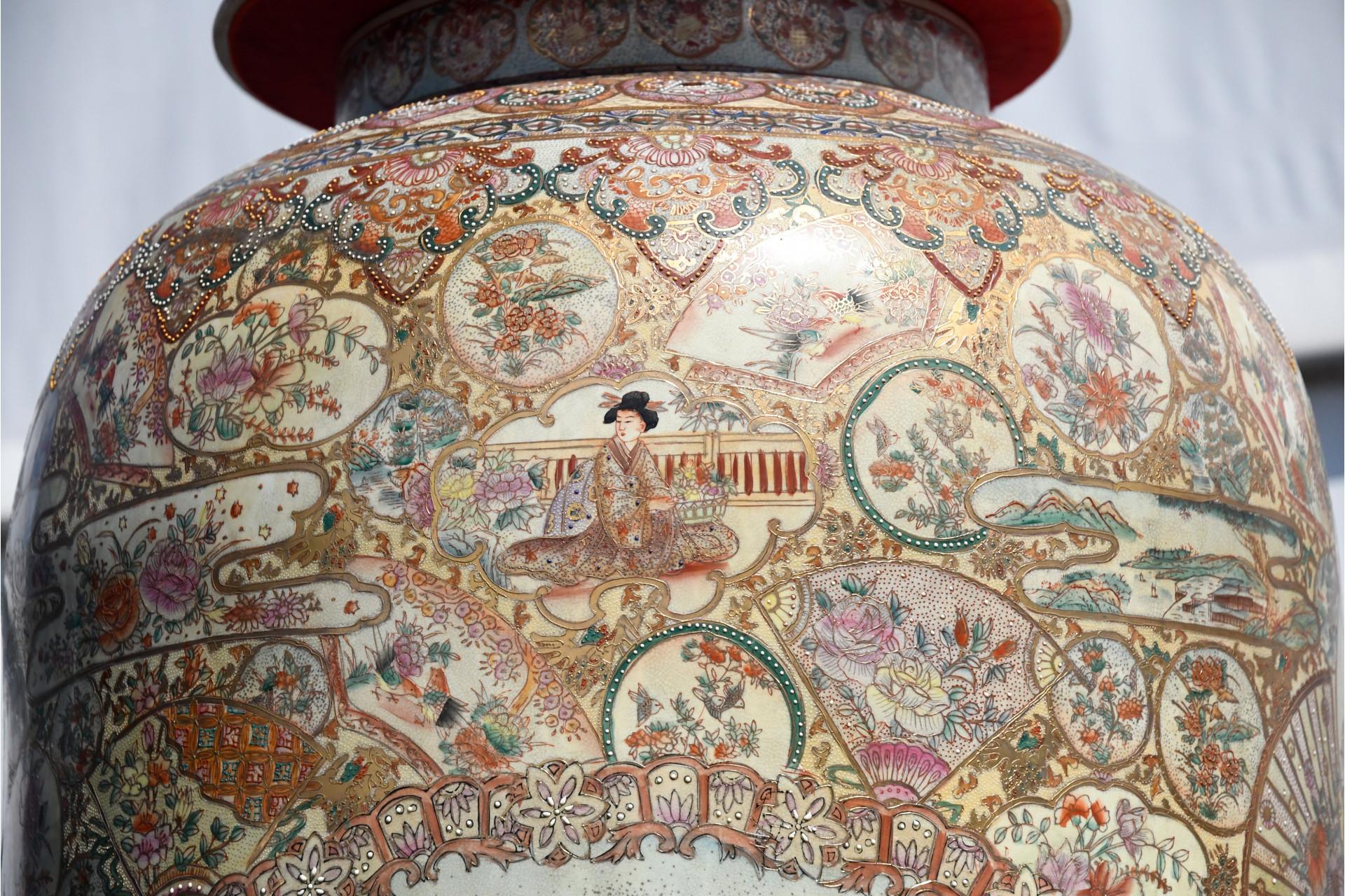 9ft porcelain temple jar