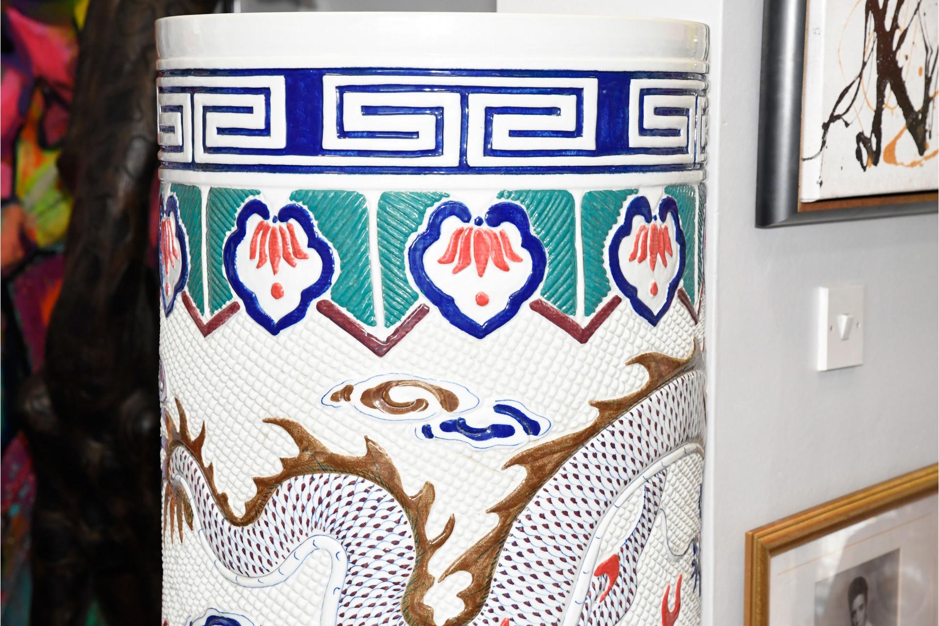 Porcelain 5ft DRAGON VASE