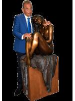 stunning Bronze Lady on Plinth