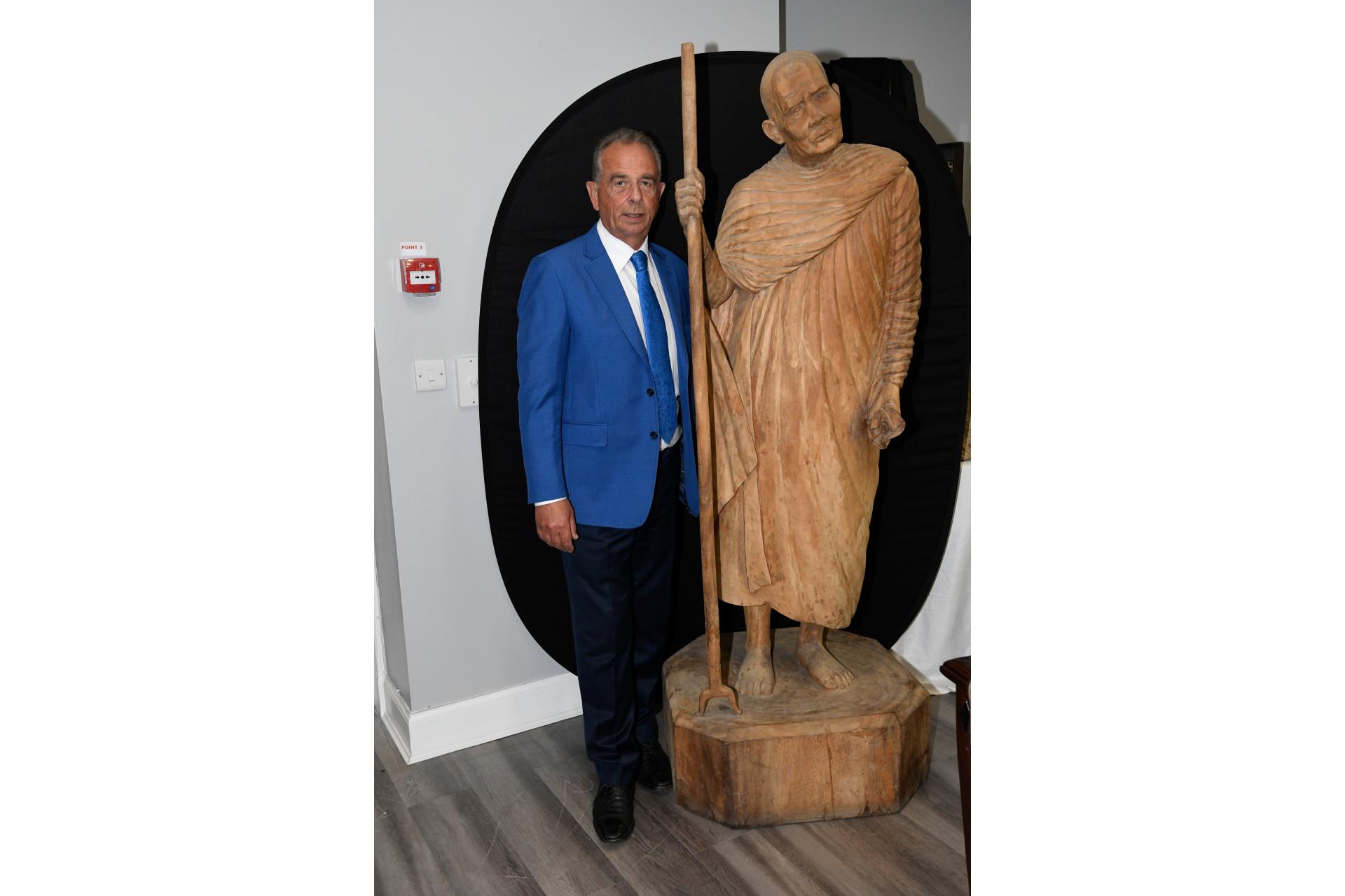 LIFE SIZE Teak Hand Carved Monk