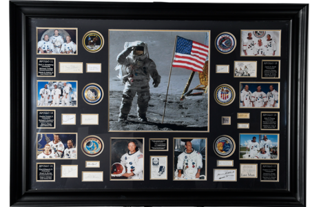 STUNNING APOLLO MOON MISSION FRAMED PRESENTATION
