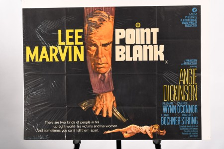 """VINTAGE FILM POSTER OF THE FAMOUS LEE MARVIN FILM """"POINT BLANK"""""""