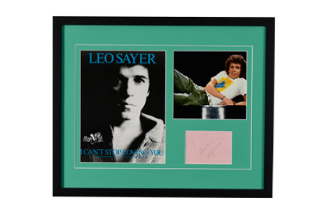LEO SAYER FRAMED PRESENTATION