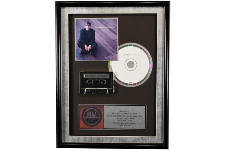 RARE ELTON JOHN ACHIEVEMENT RECORD AWARD