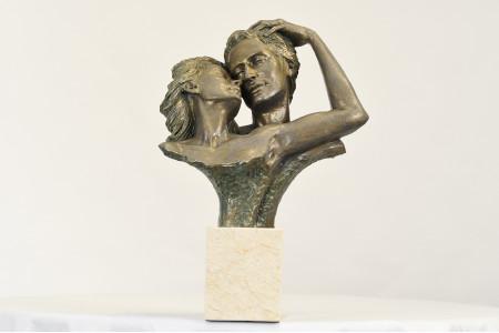 Spanish Sculpture Embracing Couple