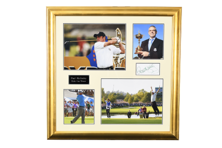 PAUL MCGINLEY FRAMED MEMORABILIA