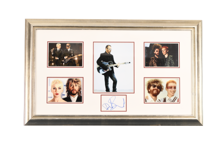 "ORIGINAL DAVE STEWART ""EURYTHMICS"" SINGED PRESENTATION"