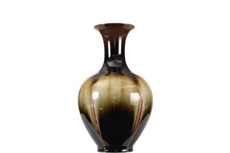 BROWN JING VASE
