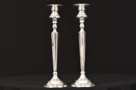 A PAIR OF CANDLE STICKS