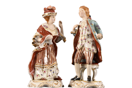 Pair of Hand Painted Porcelain Figures