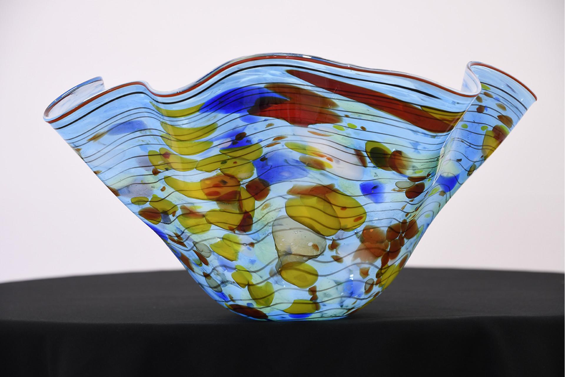 HAND MADE GLASS ART BOWL
