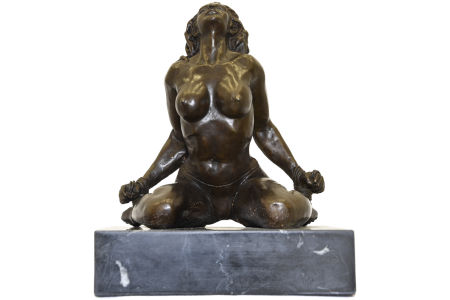 BRONZE LADY FIGURE