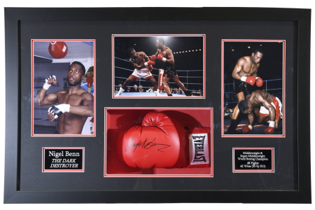 FRAMED SIGNED NIGEL BEN GLOVE