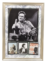 PRESENTATION WITH ORIGINAL JOHNNY CASH SIGNATURE