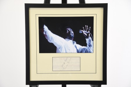 FRAMED WILSON PICKET SIGNATURE