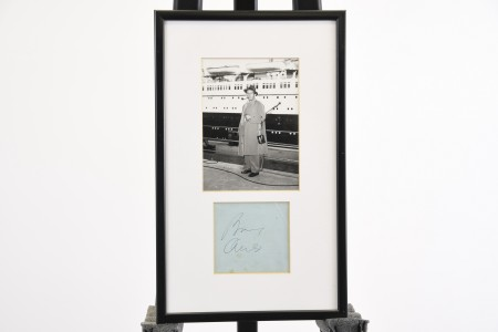 FRAMED BING CROSBY SIGNATURE