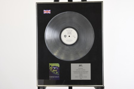 SIMPLE MINDS SILVER DISC AWARD PRESENTATION
