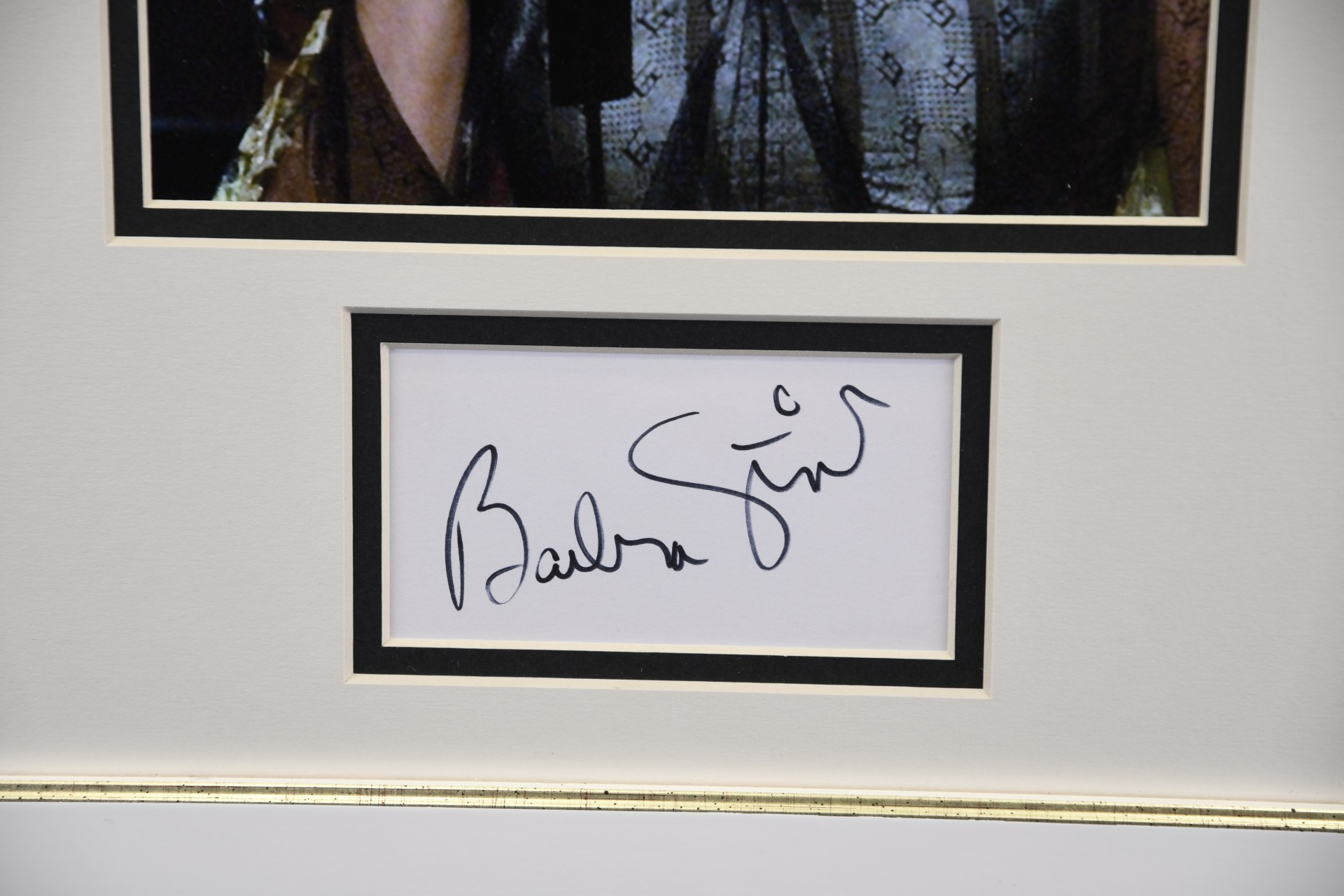 FRAMED BARBRA STREISAND SIGNATURE