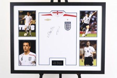 Terry and Lampard Signed Shirt