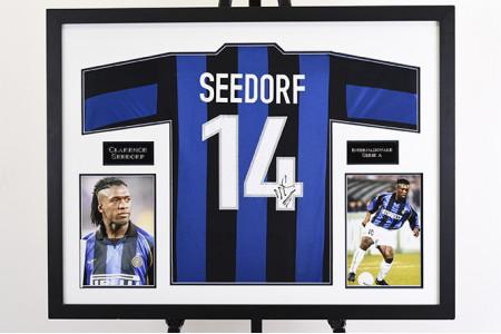 Clarence Seedorf Signed Inter Milan Shirt