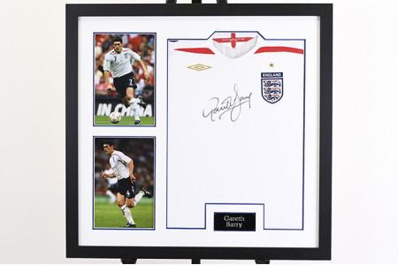 Gareth Barry Signed England Shirt