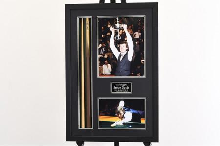 Steve Davis Singed Snooker Cue